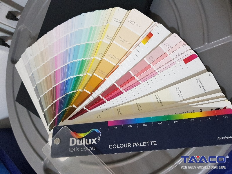 bang mau son dulux Easy clean